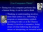 can computers think