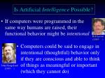 is artificial intelligence possible