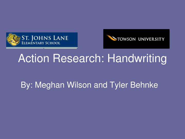action research handwriting n.