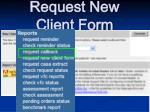 request new client form