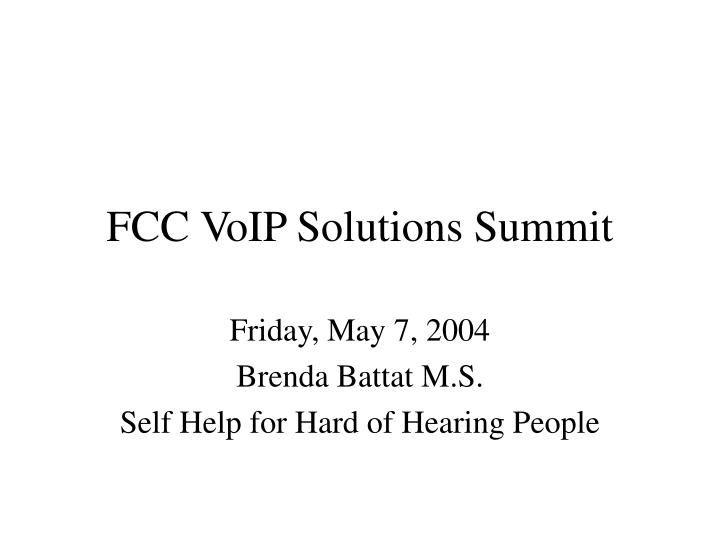 fcc voip solutions summit n.