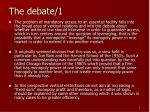 the debate 1