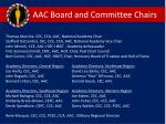 aac board and committee chairs