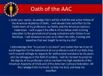 oath of the aac