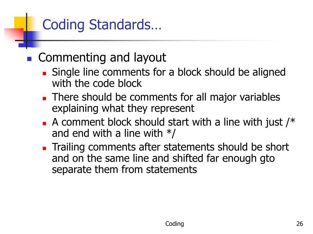 Coding Standards…