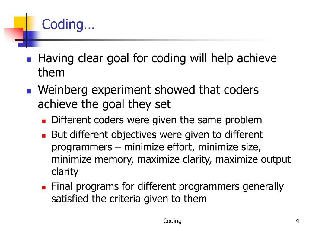 Coding…