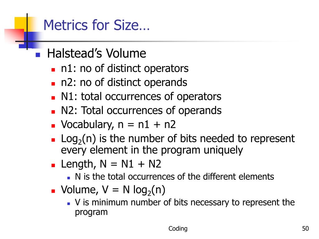 Metrics for Size…