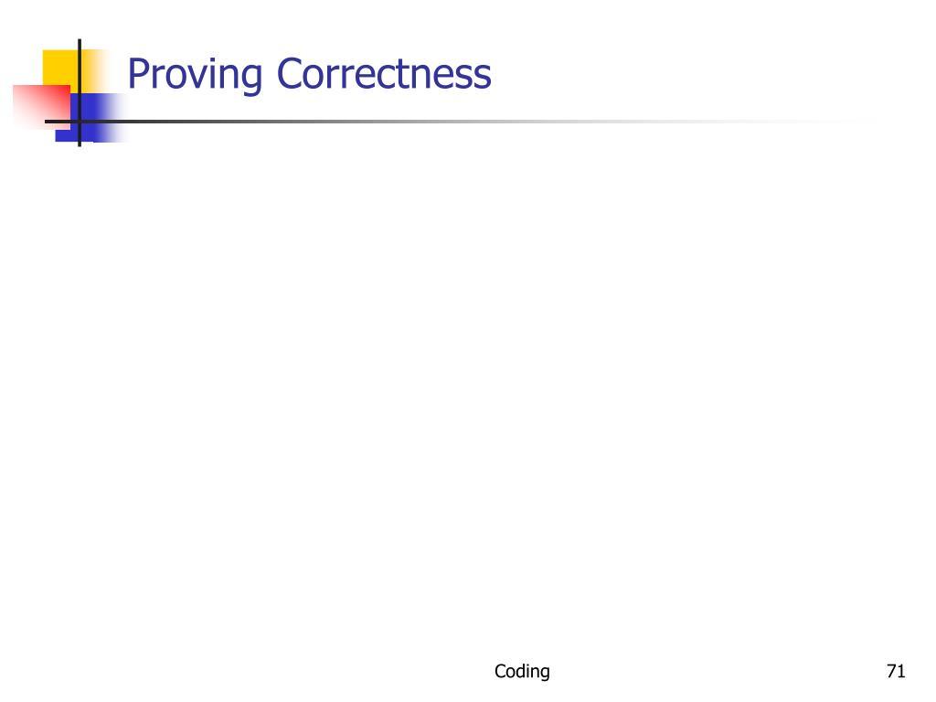 Proving Correctness