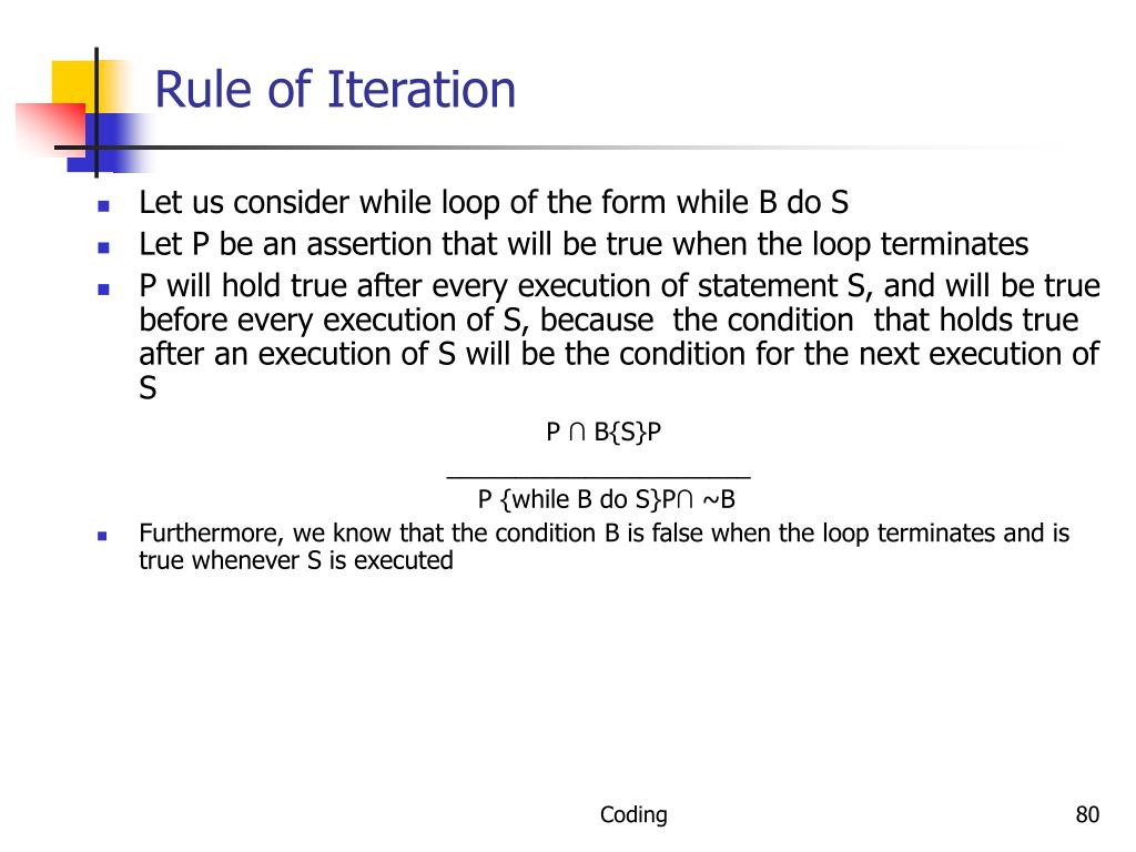 Rule of Iteration