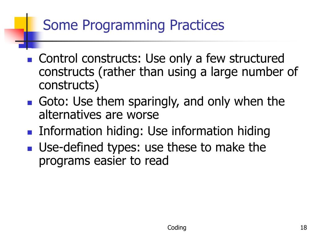 Some Programming Practices