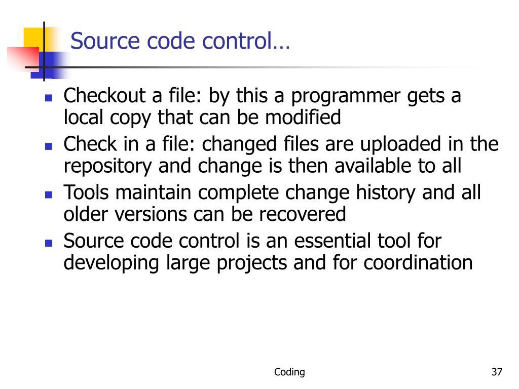 Source code control…