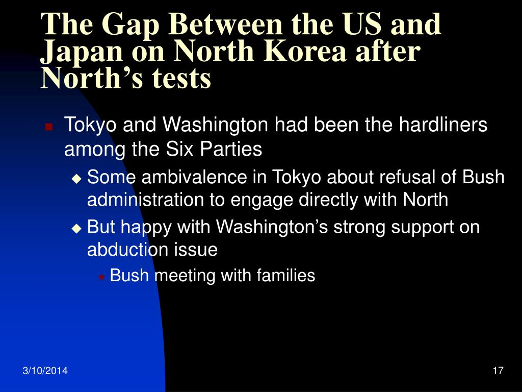 The Gap Between the US and Japan on North Korea after North's tests