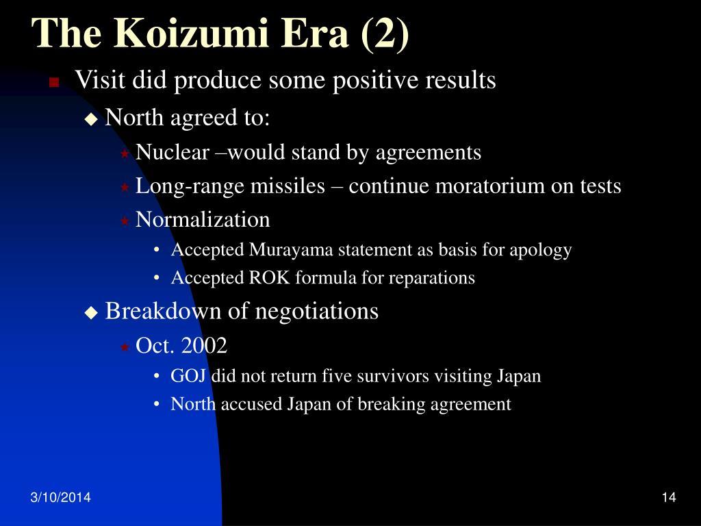 The Koizumi Era (2)