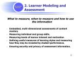 2 learner modeling and assessment