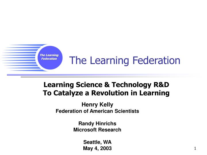 the learning federation n.