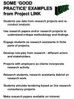 some good practice examples from project link