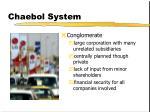 chaebol system