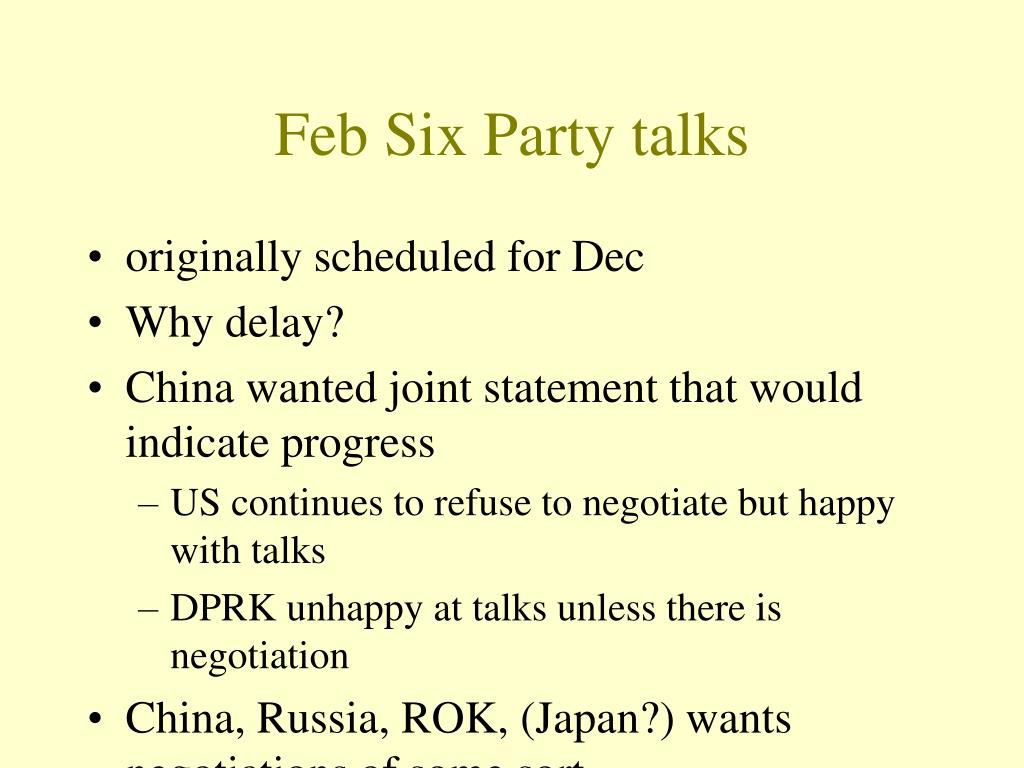Feb Six Party talks
