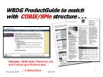 wbdg productguide to match with cobie spie structure