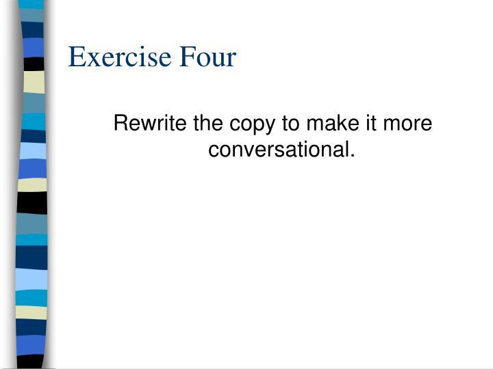 Exercise Four