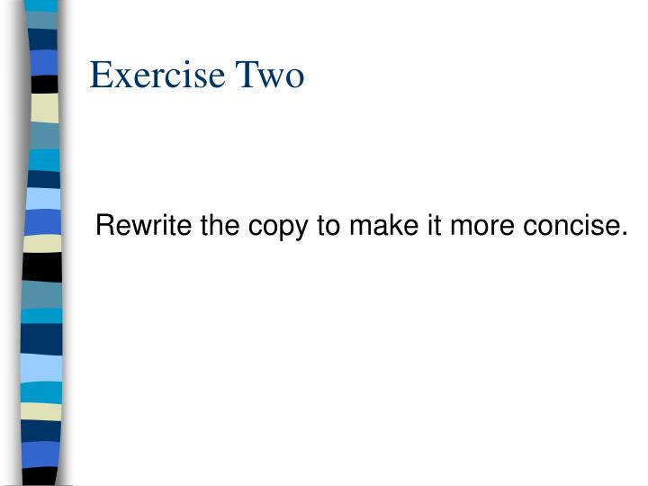 Exercise Two