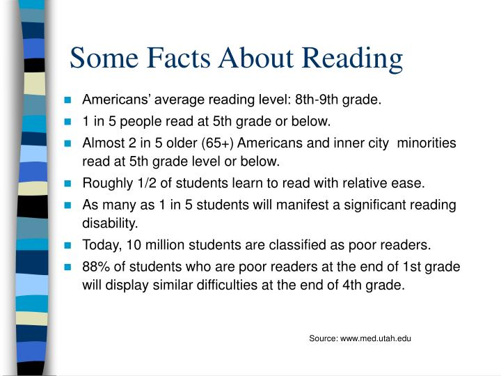 Some facts about reading
