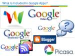 what is included in google apps1
