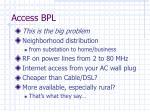 access bpl