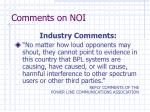 comments on noi2