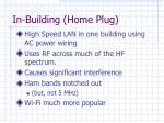 in building home plug