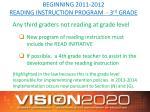 beginning 2011 2012 reading instruction program 3 rd grade