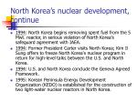 north korea s nuclear development continue17