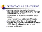 us sanctions on nk continue