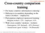 cross country comparison training