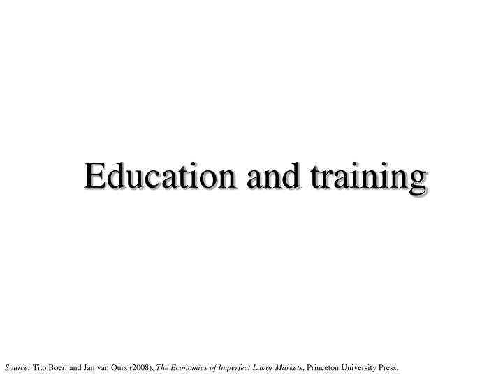 education and training n.