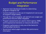 budget and performance integration1