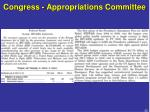 congress appropriations committee