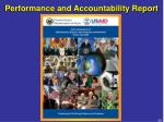 performance and accountability report