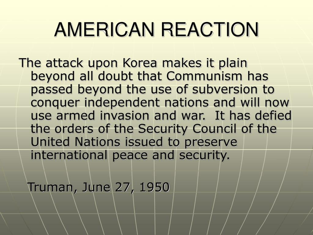 AMERICAN REACTION