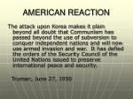 american reaction