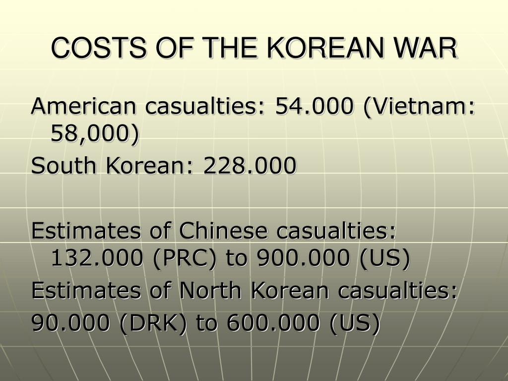 COSTS OF THE KOREAN WAR