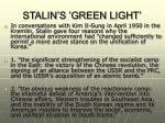 stalin s green light