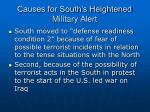 causes for south s heightened military alert