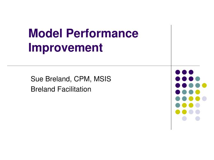 model performance improvement n.