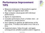 performance improvement tips