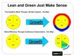 lean and green just make sense