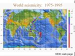 earthquakes m 5 1963 1988