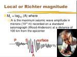 local or richter magnitude