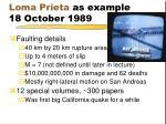 loma prieta as example 18 october 1989