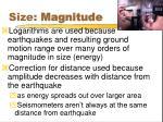 size magnitude